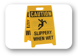 [object object] Signage & Pop Display slippery 01